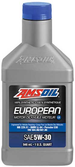 AMSOIL European Car Formula 5W-30 Improved Emissions System Protection Synthetic Oil