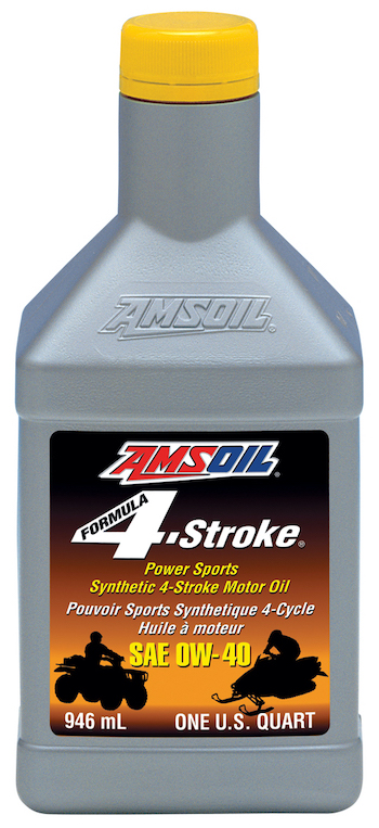 AMSOIL 0W-40 Formula 4-Stroke PowerSports Synthetic Motor Oil (AFF) 0W40