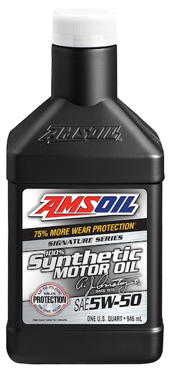 AMSOIL SAE 5W-50 Signature Series 100% Synthetic Motor Oil (AMR)