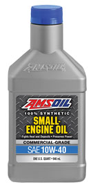 AMSOIL 10W-40 Synthetic Small Engine Oil - Commercial Grade (ASF)