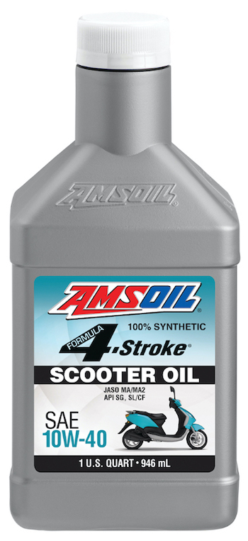 AMSOIL Formula 4-Stroke Synthetic 10W-40 Scooter Oil (ASO)