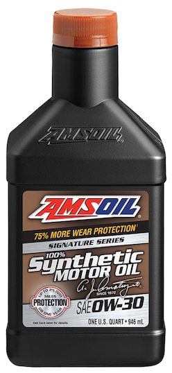 AMSOIL 0W-30 Signature Series (AZO), 100% Synthetic 0W30 Motor Oil