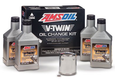 AMSOIL V-Twin Oil Change Kit for Harley Davidson Motorcycle