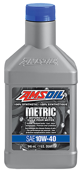 AMSOIL 10W-40 Synthetic Metric Motorcycle Oil (MCF)