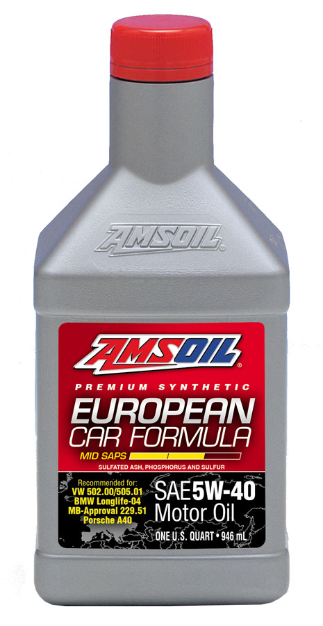 amsoil 5w 40 mid saps synthetic european car formula afl. Black Bedroom Furniture Sets. Home Design Ideas