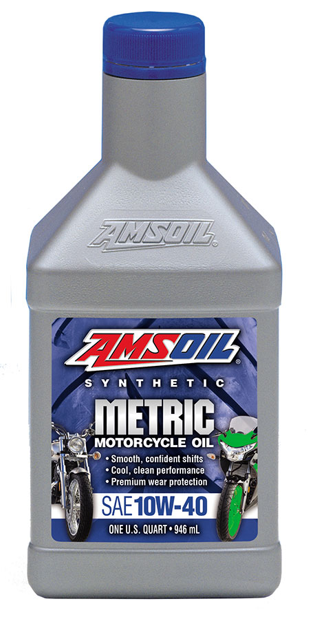 Amsoil 10w 40 synthetic metric motorcycle oil mcf for 10w 40 synthetic motor oil