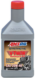 AMSOIL 20W-40 Synthetic V-Twin Motorcycle Oil for Victory & Indian motorcycles